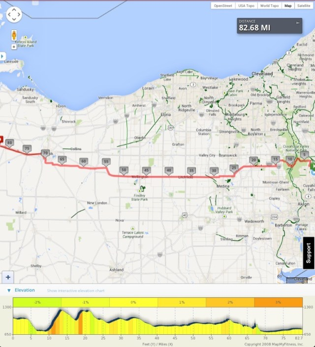 map of bike route