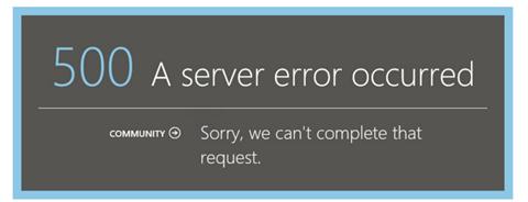 Error 500 in Azure Pack when using ADFS 1