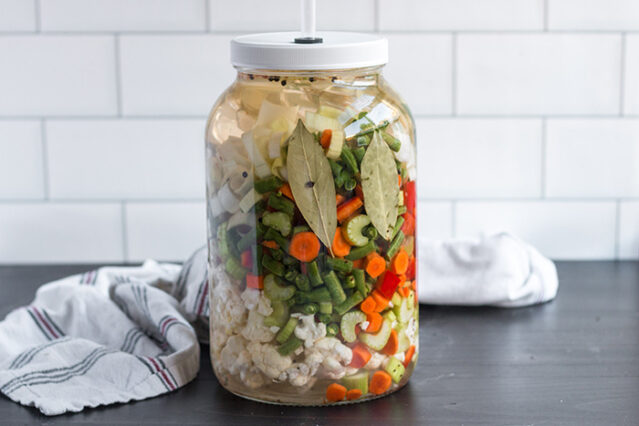 home vermented vegetables giardiniera recipe