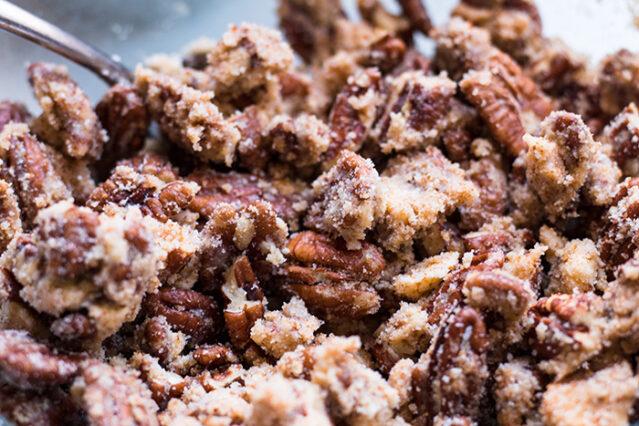 pecan crumble for gluten free sweet potato souffle recipe