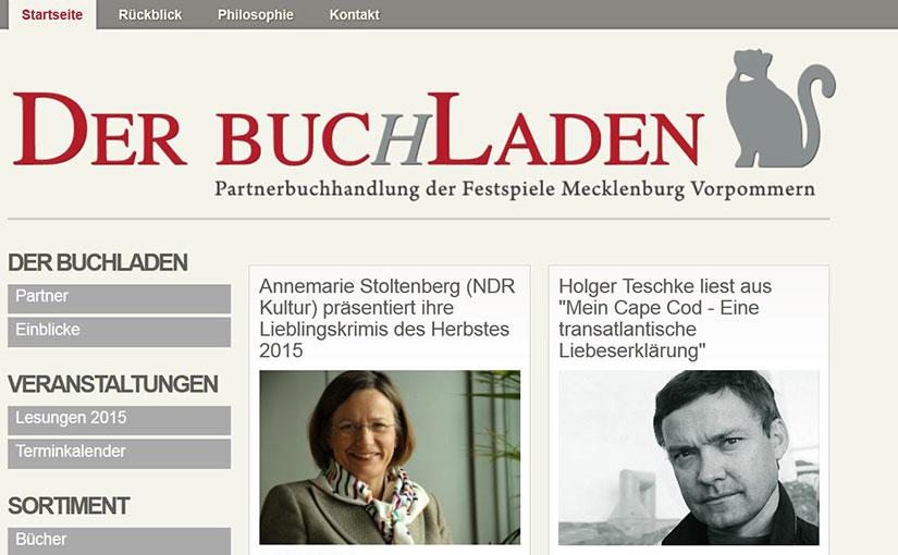 Webdesign für den Buchladen in Gingst