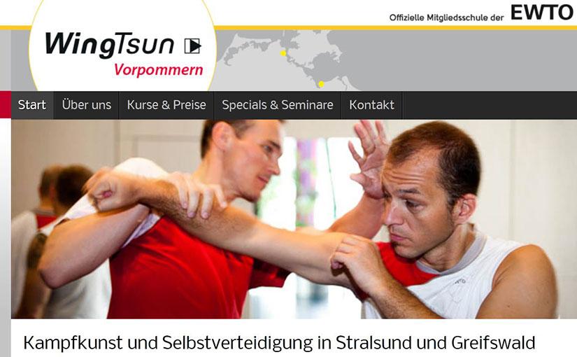Homepage für WingTsun in Vorpommern