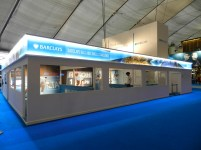 Barclays ATP Exhibition Stand design - Ball boy challenge Area,