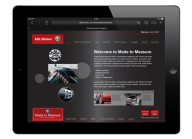Alfa Romeo Intranet Website design on ipad