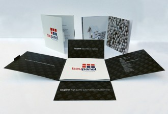 Baupanel Machine Brochure design
