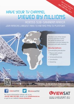 Viewsat Satcom Advert design
