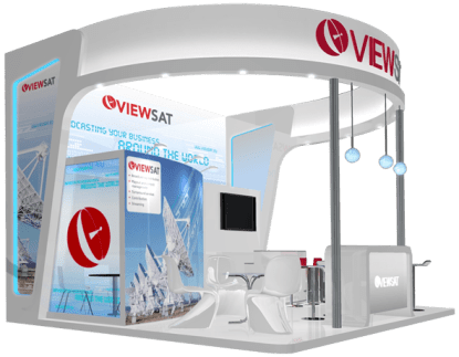 Viewsat Satcom Exhibition Stand design