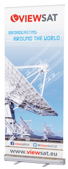 Viewsat Satcom Pop-up Banner design