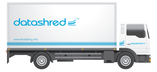 Datashred Truck Sign Writing design
