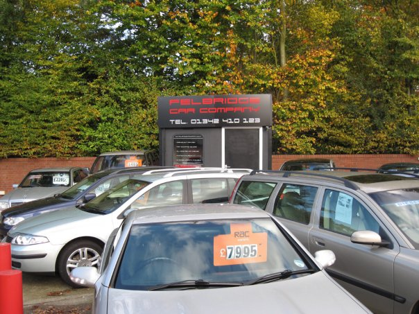 Felbridge Cars Company - Car Lot Sign Writing design