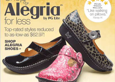 Alegria Shoe Promotion