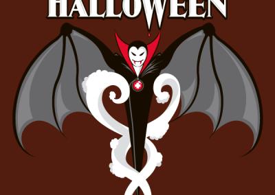Vampire Caduceus Tee Shirt Design