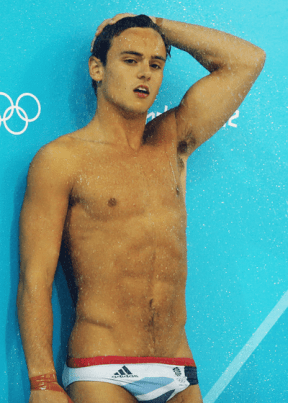 Tom Daley showering