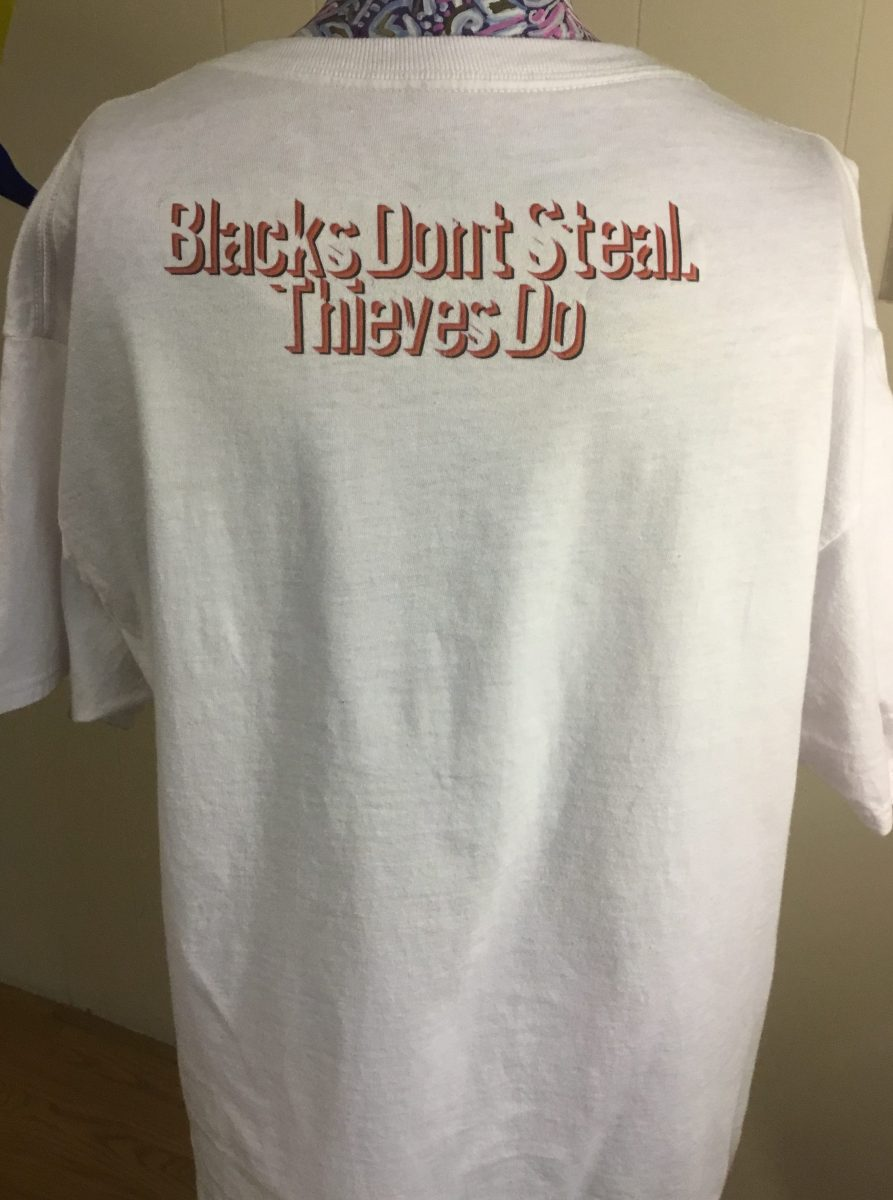 Blacks Don't Steal! A White Logo T-Shirt Medium