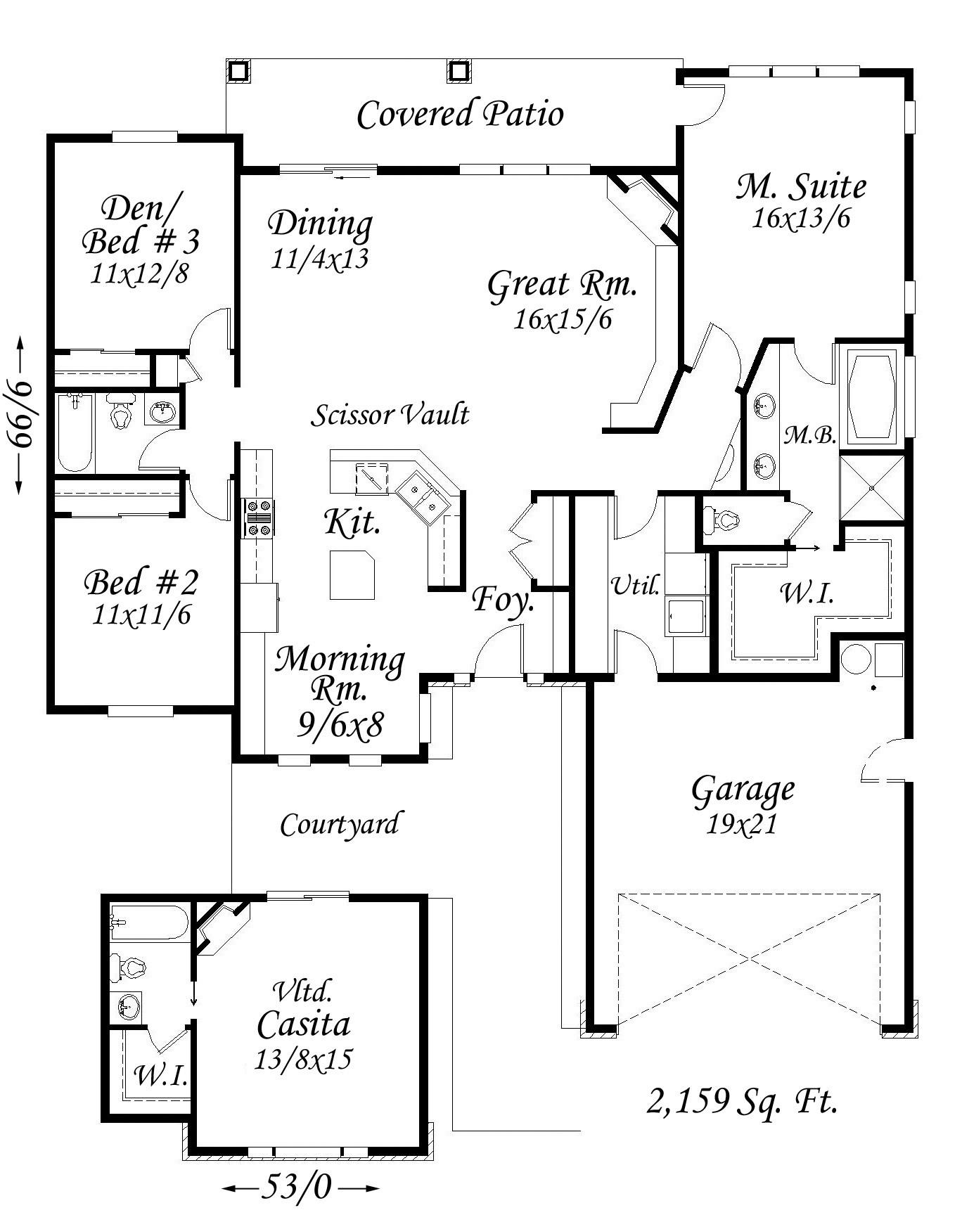 multi story house diagram