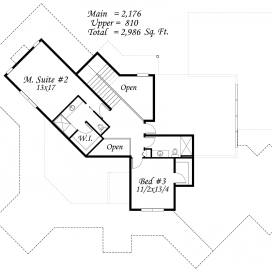 M-2986BL UPPERFLOOR PLAN
