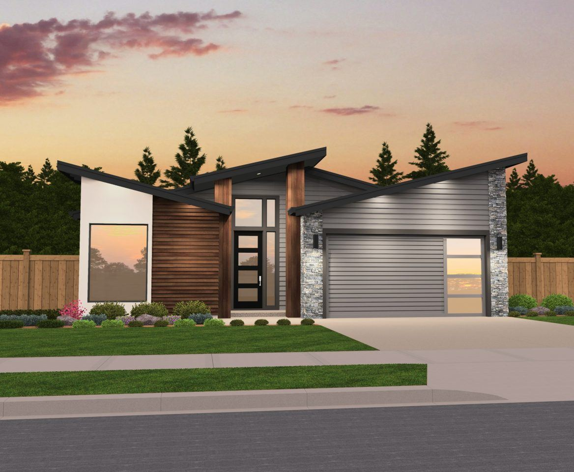 Quot Mandy Quot Shed Roof Modern One Story Design Modern House Plans By Mark Stewart