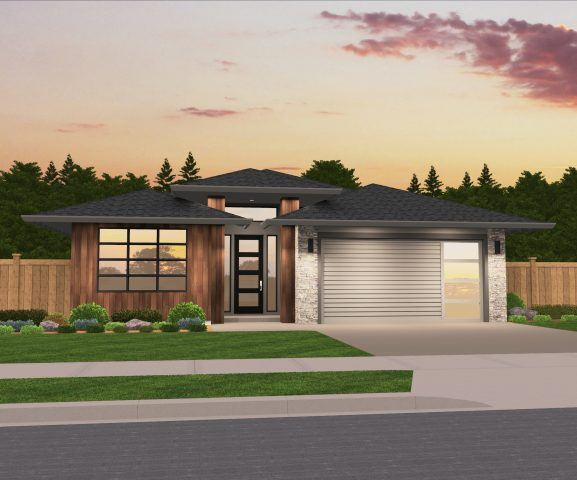 quotMorissonquot Northwest Modern Hip Roof one story Modern