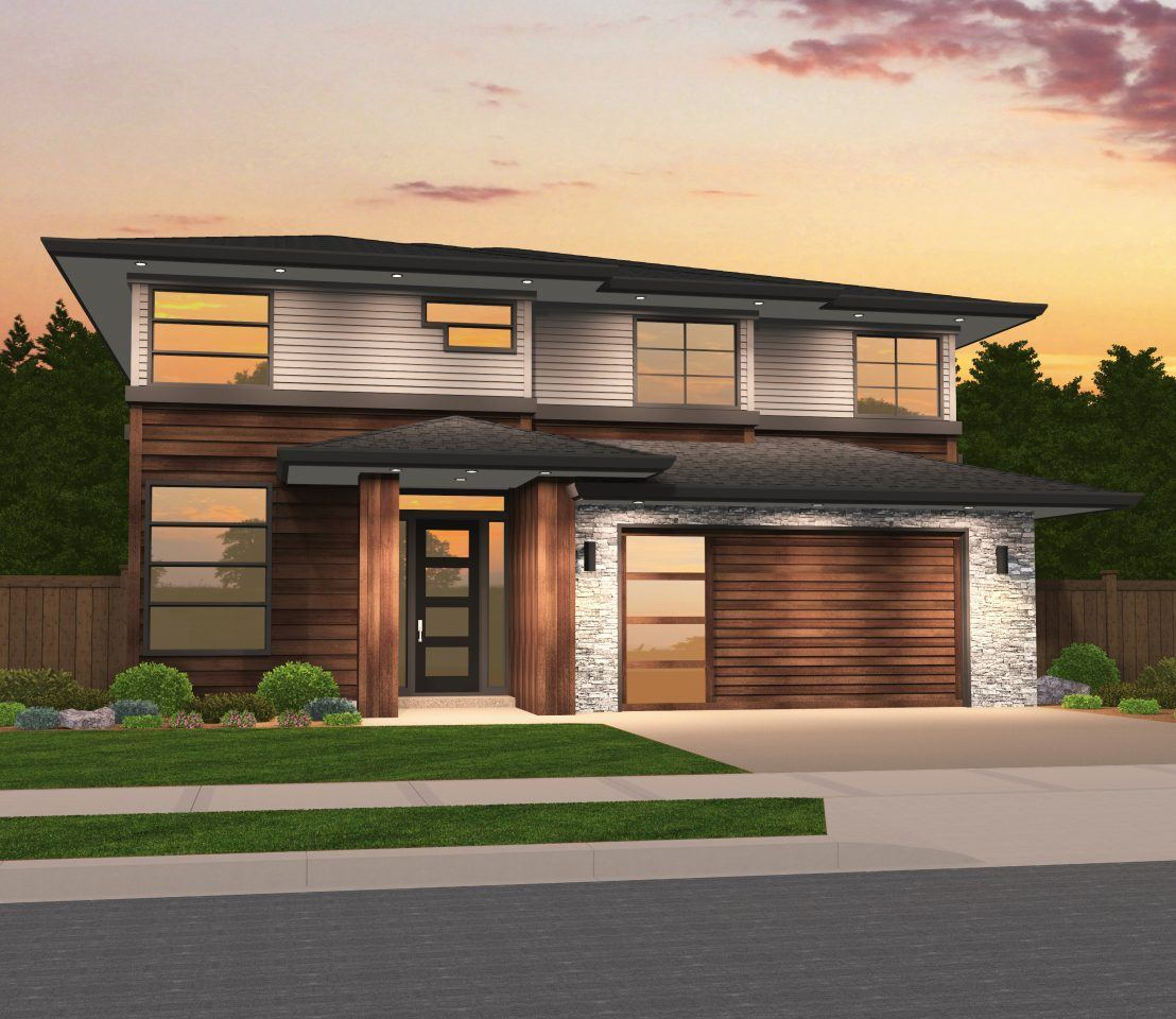 Victory Home Plan Charming Contemporary House Plan With Garage