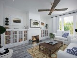 Mark Stewart Modern Farmhouse Plan M-2328-WC-1 Great Room