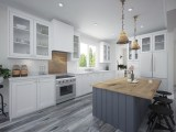 Mark Stewart Modern Farmhouse Plan M-2328-WC-1 Kitchen