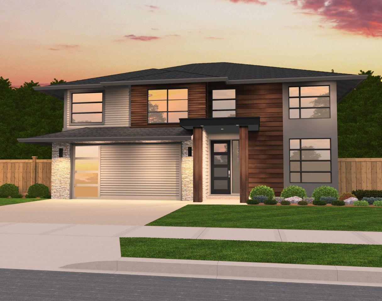 Swan Modern Hip Roof Home By Mark Stewart Home Design