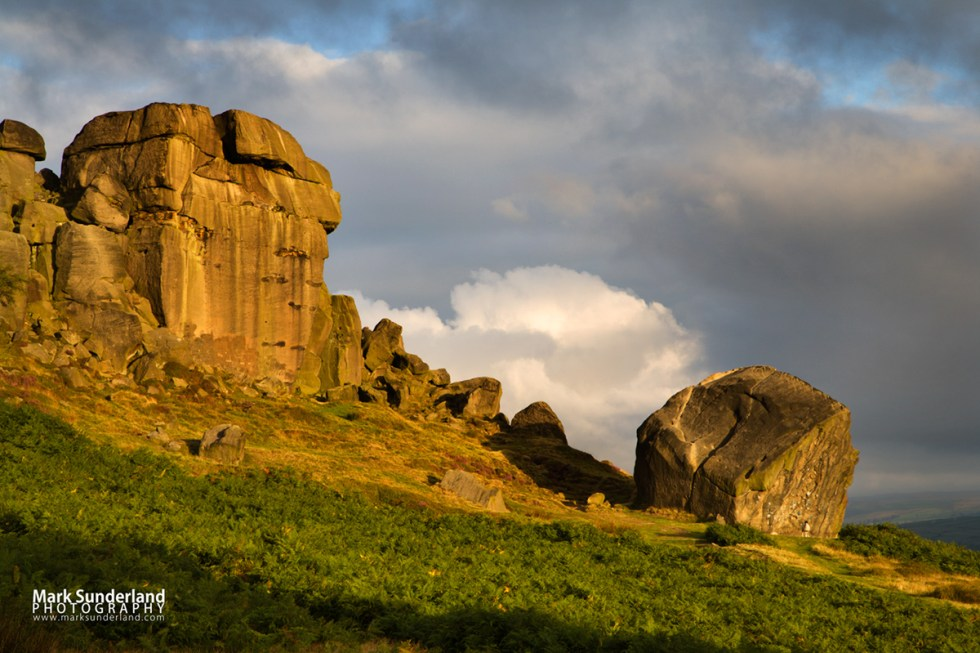 Clouds Clearing Over Cow and Calf Rocks Ilkley Moor
