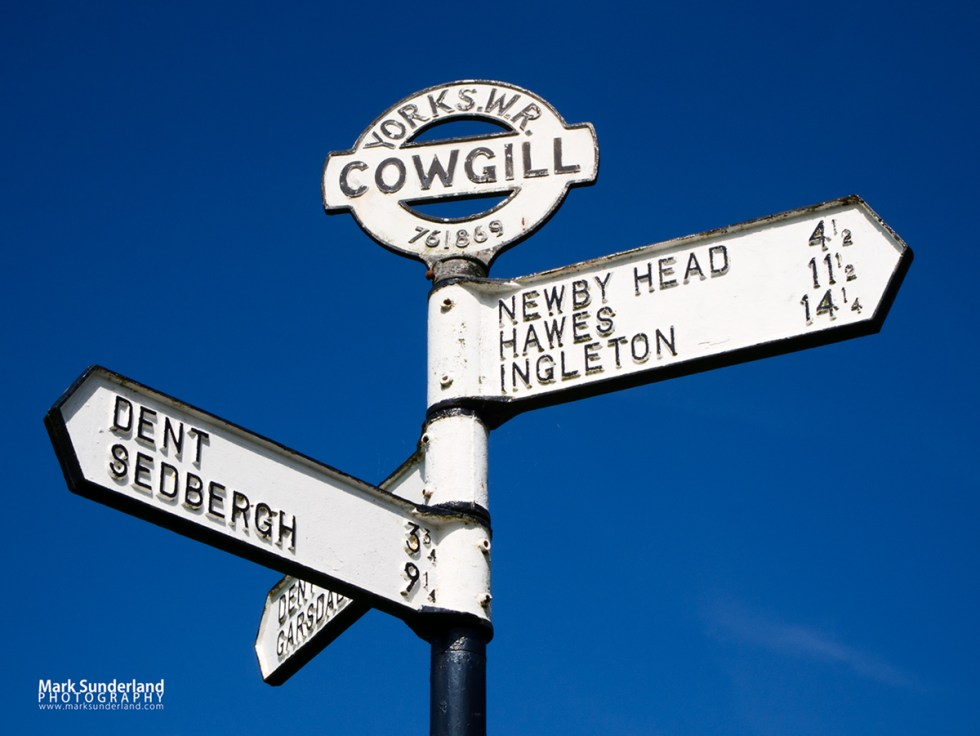 Old Yorkshire West Riding Signpost at Cowgill in Dentdale