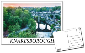 Knaresborough Viaduct at Sunset Postcard