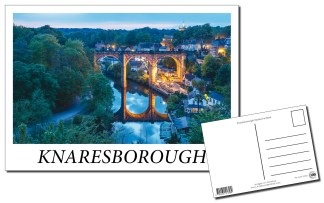 Knaresborough Viaduct at Dusk Postcard