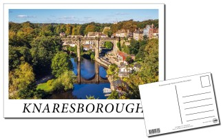 Knaresborough Viaduct and River Nidd Postcard