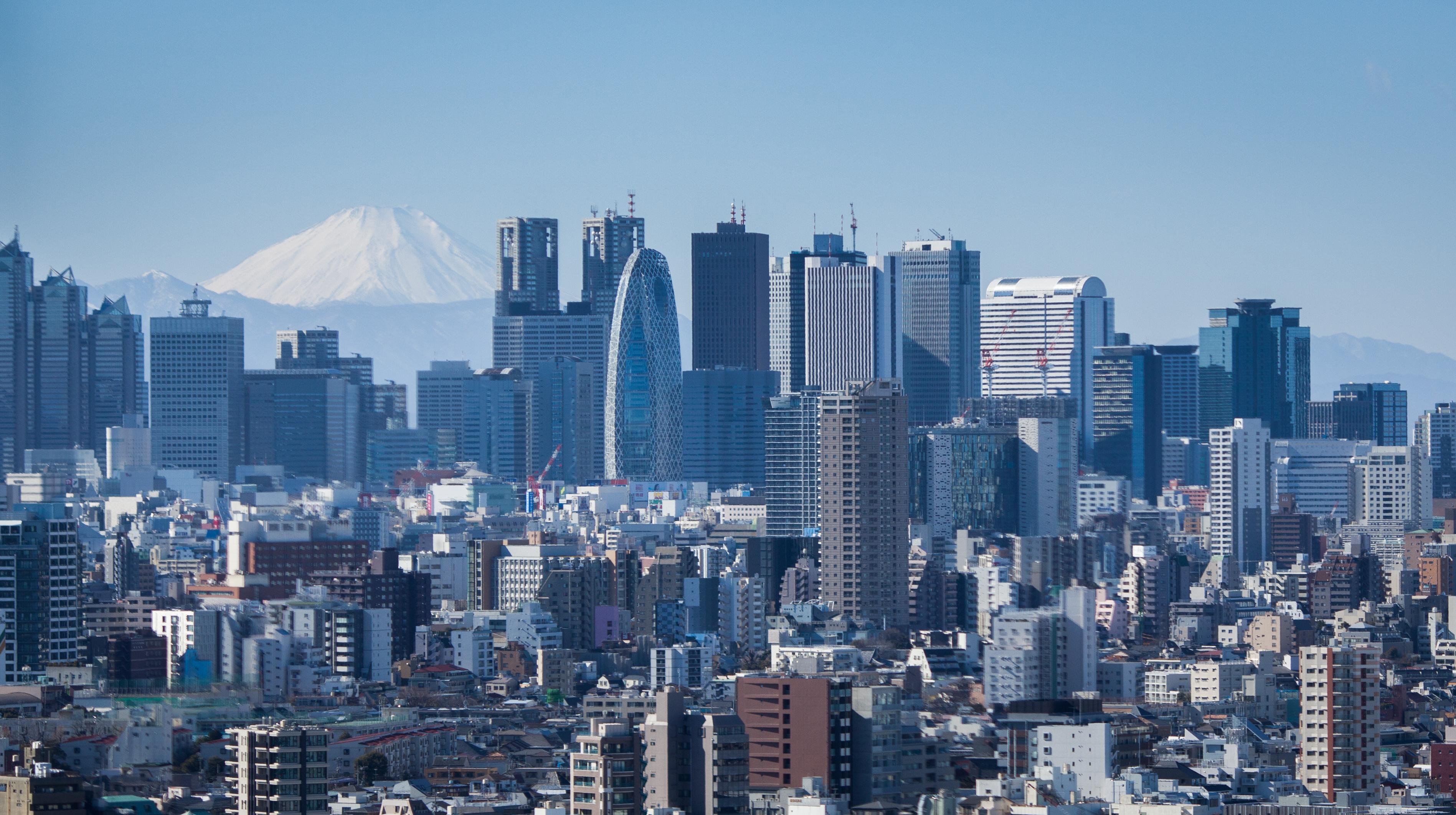 Tokyo skyline infront of Mt. Fuji