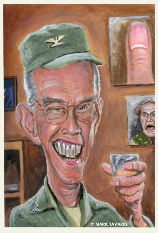 """Harry Morgan"" 10 x 15. Acrylic on Illustration Board."