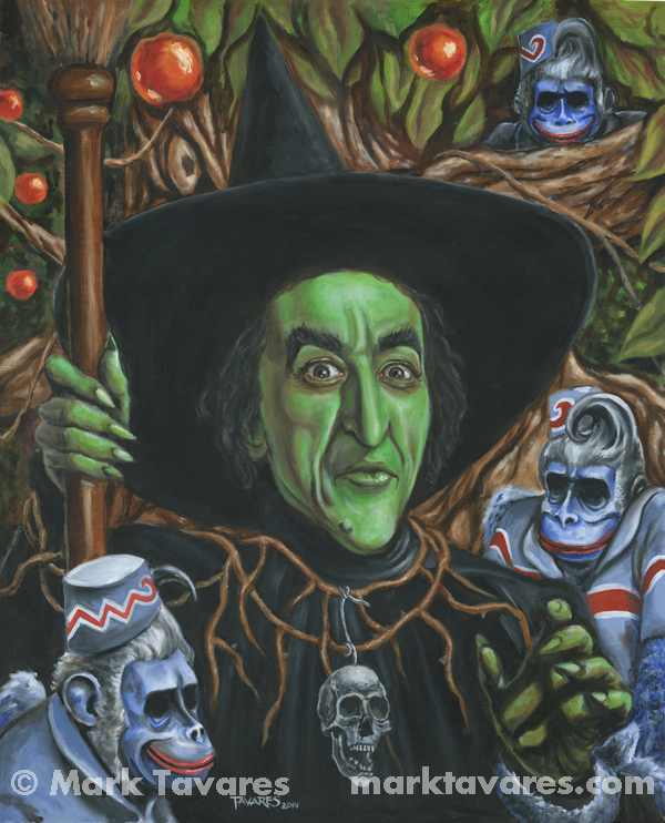 """Portrait of Wickedness""  24 x 30. Oil and Acrylic on Masonite. © Mark Tavares"
