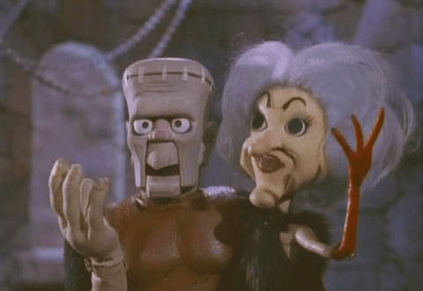 """The Monster and his Mate from """"Mad Monster Party"""" Photo courtesy of & © Rankin/Bass Productions and Embassy Pictures"""