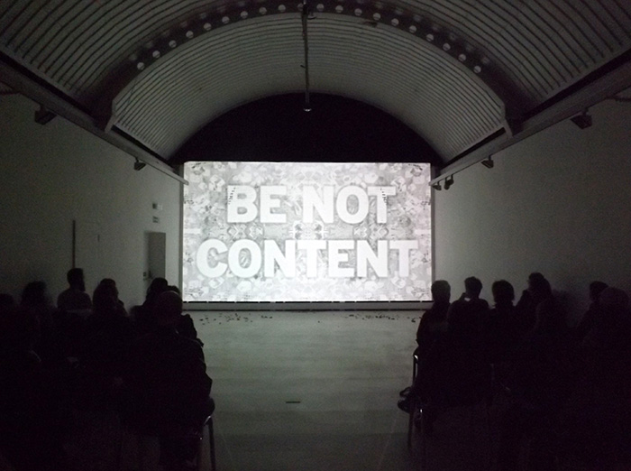 'Be not content', 2011