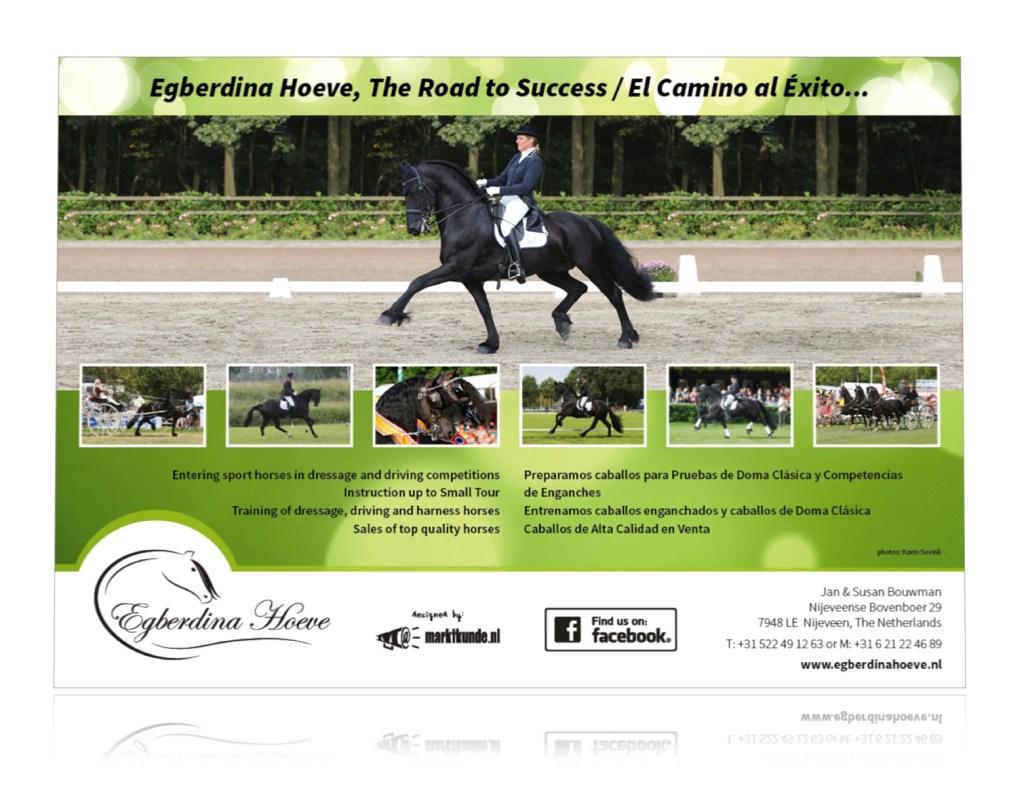 Advertentie Egberdina Hoeve - The Royal Friesian 2015