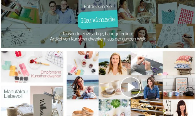 Screenshot: Handmade at Amazon (www.amazon.de/handmade)