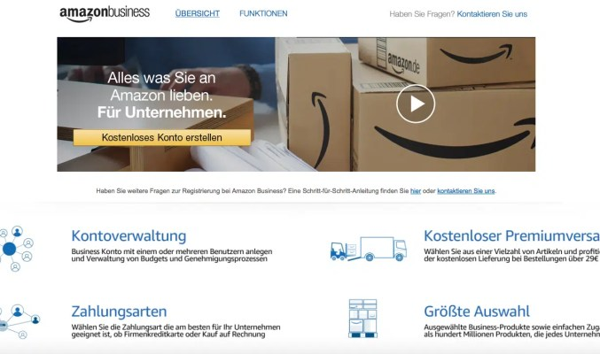 Screenshot: Amazon Business