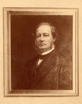 A painted portrait of Jervis Langdon Sr.