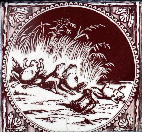 """Once upon a time, when the Sun announced his intention to take a wife, the frogs lifted up their voices in clamor to the sky. Jupiter, disturbed by the noise of their croaking, inquired the cause of their complaint. One of them said, """"The Sun, now while he is single, parches up the marsh, and compels us to die miserably in our arid homes. What will be our future condition if he should beget other suns?"""""""