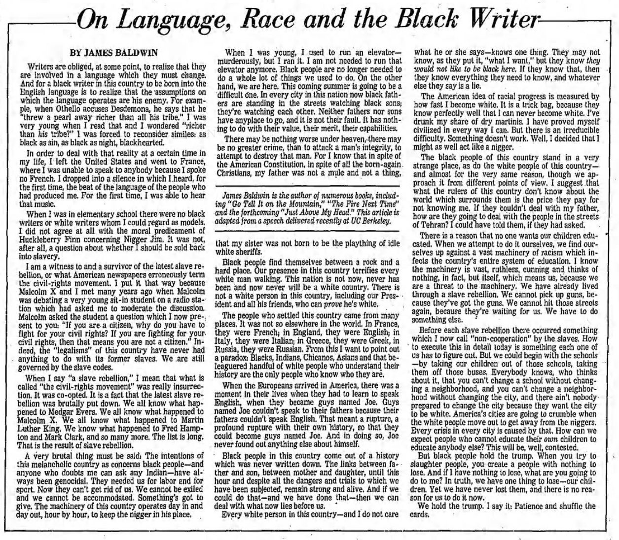"my first conk malcolm x essay In ""my first conk"" it describes the experience of malcolm x's attempt at a conk and how what processes led to the rhetorical mode: process daniela c."
