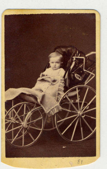 Portrait of Langdon Clemens, the only son of Samuel and Olivia Clemens. Langdon was born in 1870 in Buffalo New York and died 19 months later in 1872 in Hartford Connecticut. Death was attributed to diphtheria.