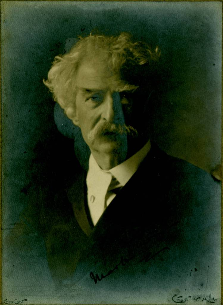 Mark Twain signed photograph, undated