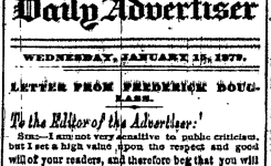 The Fickle Affections of The Elmira Advertiser For Frederick Douglass