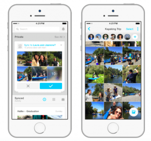 Preview Screenshot der Moments App von Facebook
