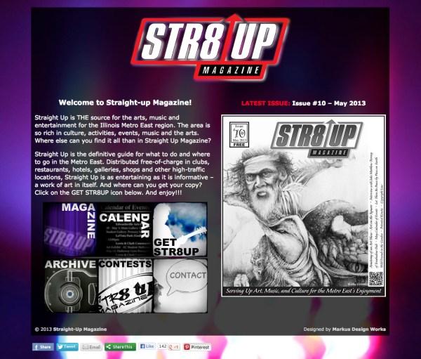 StraightUpMagazine.net landing page