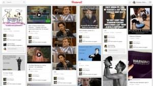 Screenshot einer Pinterest Pinnwand