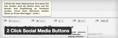 Click Social Media Buttons Plugin