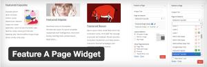 Feature a Page Widget PlugIn